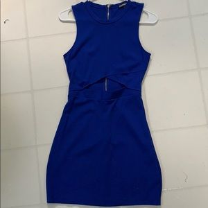Royal blue Express cut our dress